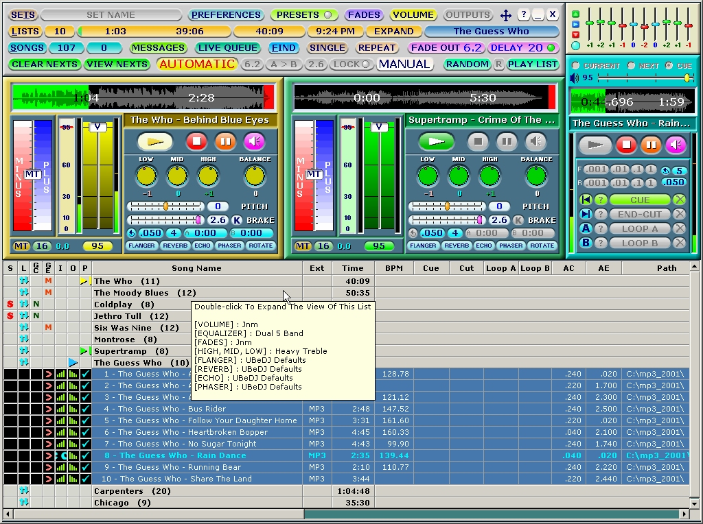 Music Player And DJ Software (FREE) - UbeDJ %
